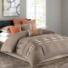 pintuck bedding set n neutral cotton sateen pieced with comforter set reversible pintuck comforter set 8 piece