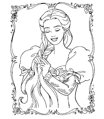 Small Picture FUN LEARN Free worksheets for kid Barbie coloring pages