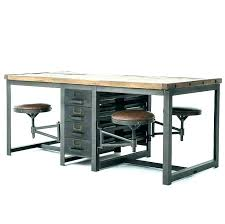 industrial style office desk. Modern Industrial Style Office Desk