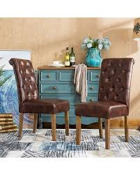 parsons dining room chairs amazing deal on roundhill furniture habit faux leather tufted