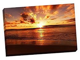 24 quot x36 quot tropical sunset canvas wall art stretched canvas on sunset wall art canvas with amazon 24 x36 tropical sunset canvas wall art stretched canvas