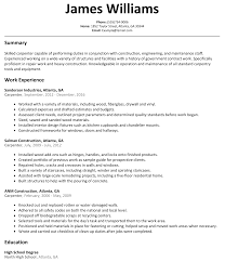 carpenter resume sample  resumeliftcom