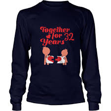 great t shirt for 32nd wedding anniversary gift for husband wife gift