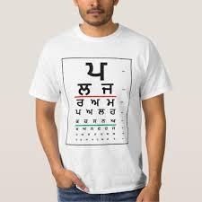 Punjabi Chart Punjabi Eye Test Chart T Shirt