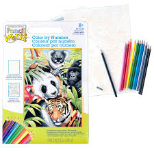 Dimensions Color Chart Dimensions Crafts 73 91472 Pencil Works Color By Number Kit