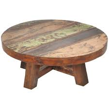 photo of distressed round coffee table with coffee table creating distressed wood coffee table for living