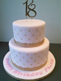 Pink And Gold Quilted 18th Birthday Cake Debut Gold Birthday