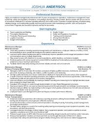professional maintenance operations manager templates to showcase professional maintenance operations manager templates to showcase your talent myperfectresume