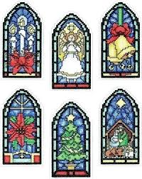 faux stained glass kits stained glass kit everything cross stitch stained glass ornaments counted cross stitch