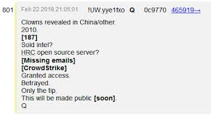 Image result for qanon crowdstrike