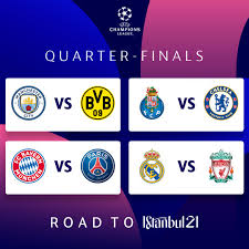 CHAMPIONS LEAGUE QUARTER-FINAL DRAW 2021 - LIVERPOOL V REAL MADRID, BAYERN  V PSG, CHELSEA V PORTO - Sport News