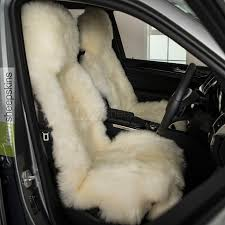 sheepskin seat cover for cars natural ivory white color