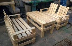 wooden pallet outdoor furniture. Handmade Pallet Patio Seating Set Wooden Outdoor Furniture O