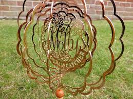Personalized Spinning Dream Catcher Unique Personalised Bronze Dream Catcher Decorative Garden And Indoor