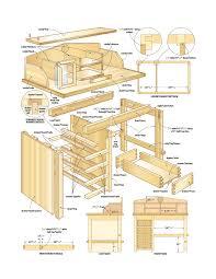 antique plans for a desk