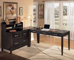 image of l shaped computer desks with hutch