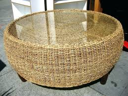 wicker coffee table with storage round ottoman lovely t outdoor