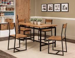 adler 5pc oak blk dining set