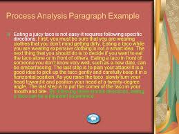 paragraph essay types ppt video online  process analysis paragraph example