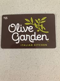 15 olive garden gift card 1 of 1 see more
