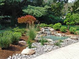 Japanese Garden. Landscape design with waterfall and pond By Lee's Oriental  Landscape Art