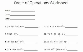 Pemdas Worksheets Fresh order Of Operations Pemdas Worksheet ...