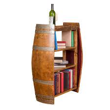 wine barrell furniture. Interesting Barrell Wine Barrel End Bookshelf Intended Barrell Furniture