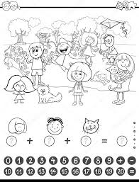 De Coloriage Activit Math Matiques Image Vectorielle 124294420