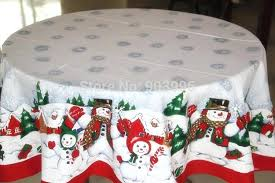 round cotton tablecloth free red edge snowman round tablecloth fabric tablecloth continental in tablecloths from round cotton tablecloth