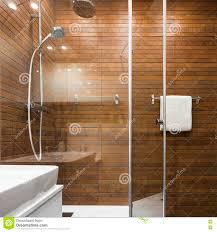 Skandinavisches Design Im Badezimmer Stockbild Bild Von Dusche