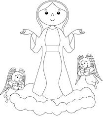 Disegni Facili Da Colorare Madonna Maria Disegni Da Colorare E