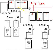 wiring diagrams page 13 4 pumps 8 batteries 2 banks 48v to both front and rear pumps if u want 36v to the rear pumps then u justmove the cable down a battery obviously
