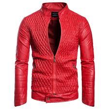 trendy man leather clothing leather clothing single color wrinkle jacket coat