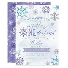 Snowflake Birthday Invitations Winter Onederland Snowflake Birthday Invitation