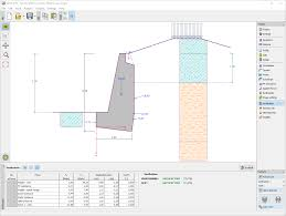 Small Picture Gravity Wall Geotechnical Software GEO5 Fine