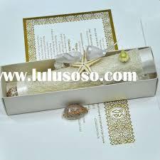 vine star fish scroll wedding invitation e with nice box pa060