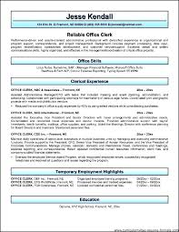 free office samples clerical resume sample office clerk resume sample free clerical
