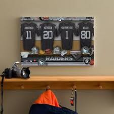 personalized oakland raiders nfl locker room canvas print 10908 father s  on cleveland browns canvas wall art with cleveland browns canvas cleveland browns vintage sign cleveland