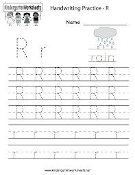 Letter R Worksheet For Kindergarten C Worksheets Toddlers E Sound ...