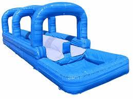 inflatable inground pool slide. Double Lane Surf N Slide W/Pool Inflatable Inground Pool