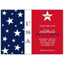 Stars 4th Of July Invitations