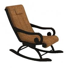 wooden rocking chair. laursen wooden rocking chair - black polish brown fabric