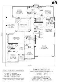 4 bedroom house plans one story no garage incredible 4 bedroom 3 bath house plans