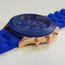 stylish mens blue silicone w rose gold fashion watch by cheeky stylish mens blue silicone w rose gold fashion watch by cheeky he 13