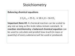 stoichiometry balancing chemical equations 2 c 8 h 18 25 o 2 18 h