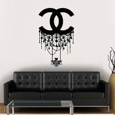 wall decal vinyl sticker decals art decor design chandelier er chanel light living