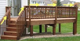 Deck Railing Designs Images Deck Design Wood Deck Railing Design Ideas The Metal Deck