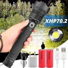 Mạnh Mẽ Nhất Đèn Pin Led Xlamp XHP70.2 USB Phóng To 3 Chế Độ Đèn Pin XHP70  XHP50 18650 26650 Pin Sạc Đèn Pin|LED Flashlights