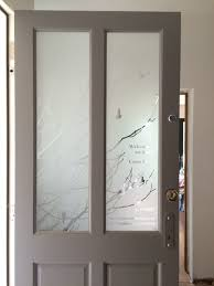 etched glass for a front door modern