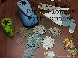 Paper Punches Flower Make Gorgeous Paper Flowers With Paper Punches